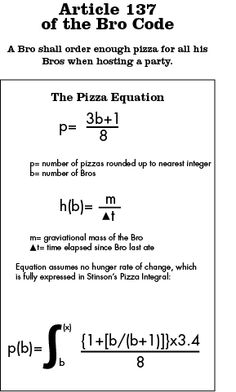 Article 137 of the Bro Code: Pizza Equation #HIMYM