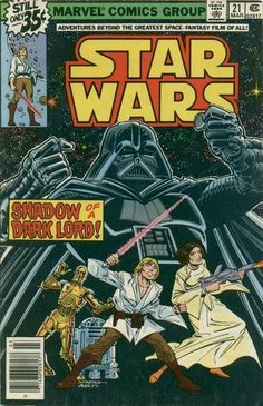 Star Wars #21 - Comic Book Cover - received this in card form, for my birthday!