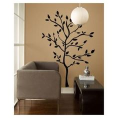 19 in. Tree Branches Peel and Stick Wall Decals-RMK1317GM at The Home Depot