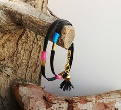 Ethnic tassel bracelet warp  multicolor  bracelet by KerenMekler, $44.90