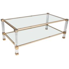 Pierre Vandel Lucite Coffee Table | From a unique collection of antique and modern coffee and cocktail tables at https://www.1stdibs.com/furniture/tables/coffee-tables-cocktail-tables/