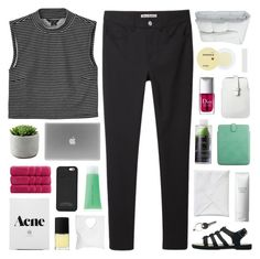 """""""i'm only looking out for you"""" by feels-like-snow-in-september ❤ liked on Polyvore featuring NARS Cosmetics, Smythson, Korres, Monki, Christian Dior, RMK, Frette, Christy, Mossimo and Acne Studios"""