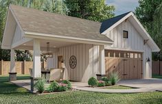 Plan Garage, Garage Floor Plans, Pool House Plans, Pool House Shed, Garage Ideas, Carport Sheds, Carport Garage, Garage Exterior, Carport Patio