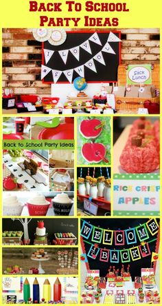 Back To School Party Ideas - lots of ideas here would be great for a graduation party as well