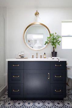 Dark Single Sink Bathroom Vanities Design Idea