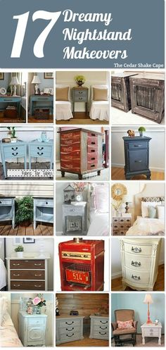 Nightstand makeovers...