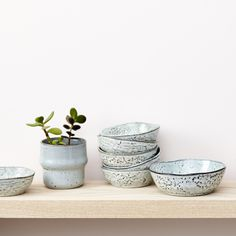 Rustic Speckled Ceramics. he set of two rustic speckled nibble bowls is ideal for nuts, dips, olives and tapenades. We have chosen our ranges of tableware with a view to being perfect for everyday use as well as for informal dining with friends and family. When not in use the ceramics look great displayed on a kitchen shelf or worktop.