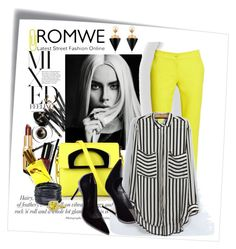 """""""mixed yellow"""" by nataskaz ❤ liked on Polyvore featuring Post-It, Bobbi Brown Cosmetics, Flidais Parfumerie, Christian Louboutin, Etro, Vita Fede, ABS by Allen Schwartz and Gemvara"""