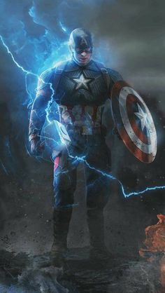 Captain with Thor Hammer and Shield iPhone Wallpap. - - Olivia Captain with Thor Hammer and Shield iPhone Wallpap. - Captain with Thor Hamme Marvel Dc Comics, Marvel Avengers, Iron Man Avengers, Hero Marvel, Marvel Captain America, Marvel Funny, Marvel Art, Funny Comics, Avengers Universe