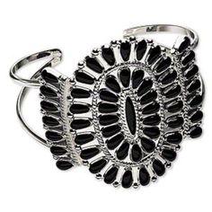 Navajo Style Black Enamel Bracelet