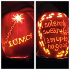 Potter themed pumpkins