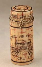 Limoges Wine Cork Box