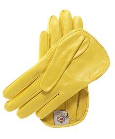 Women's Short Italian Leather Gloves