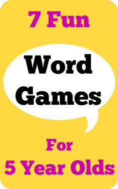 7 fun word games for 5 year olds