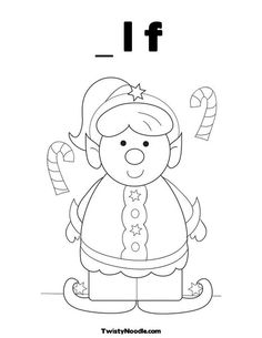 elf coloring page christmas pinterest elves