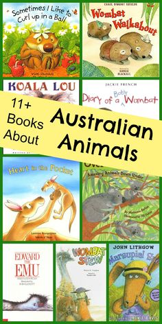 Pictures books for introducing kids to Australian animals. Australia Theme.