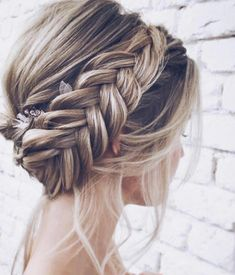 28 Braided Wedding Hairstyles For Brides with Long Hair . - 28 Braided Wedding Hairstyles For Brides with Long Hair - Wedding Braids, Wedding Hairstyles For Long Hair, Box Braids Hairstyles, Braids For Long Hair, Bride Hairstyles, Hair Wedding, Hairstyle Ideas, Hair Ideas, Wedding Plugs