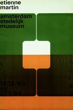Wim Crouwel, poster for the exhibition Etienne Martin (1963)