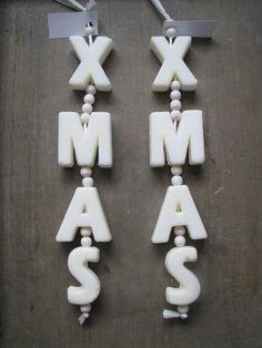 Zeepketting  XMAS   Tips om zelf te maken: http://www.jouwwoonidee.nl/zeepkettingen-maken/