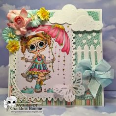 Besties card by Bonnie Kohane Besties, Selling Crafts, Dear Mom, Beautiful Handmade Cards, Watercolor Pencils, Digi Stamps, Cute Little Girls, Scrapbook Paper Crafts, Big Eyes
