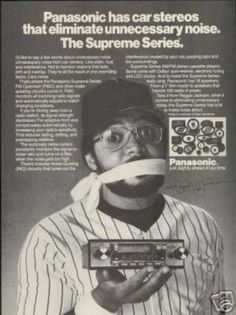 Baseball Reggie Jackson Vintage Photo Panasonic (1981)