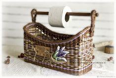 Корзина плетеная для дома держатель для туалетной бумаги или полотенец - купить или заказать в интернет-магазине на Ярмарке Мастеров - G0SX9RU. Брянск | Авторская работа. Корзина плетеная в стиле…