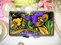 Pill Case, 7 day Pill Box, Pill Case, Pill Box, 7 Sections, Pill Container, Best Friend Gift,Gift for Her,Medicine Organiser, Ornate Floral. by RubysNeedfulGifts on Etsy