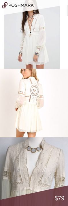 NWOT free people dreamland dress final price!!! Ivory color 100% cotton Free People Dresses Mini