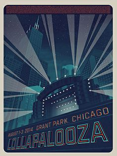 The Lollapalooza 2014 Lineup In Teeny-Tiny Print  #Refinery29 Love the idea and the poster itself