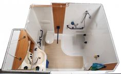 Cabine de douche adapt e pour handicap salle de bain for Amenagement cuisine handicape