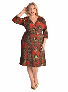 IGIGI Women's Plus Size Donna Dress in Amazing Paisley ** To view further for this item, visit the image link.