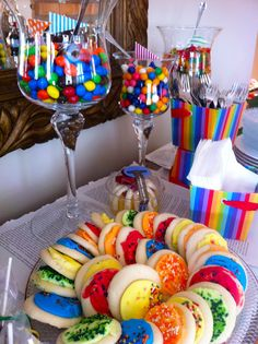 Rainbow party  theme www.decorellaknox.com