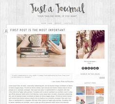 Blogger Template 'Just a Journal' : Arte digitale di simonas