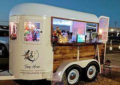 Tipsy Horse Trailer Bar Mobile Bartending Horse Trailer conversion - the Tipsy Horse (Northern california)<br> Catering Trailer, Food Trailer, Mobile Bar, Food Trucks, Food Gifts For Men, Converted Horse Trailer, Coffee Food Truck, Mobile Coffee Shop, Coffee Trailer