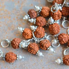 Rudraksha Beads,Rudraksha Mala Bead,Rudraksha Seed,6mm Rudraksha Charm,925 Silver,Rudraksha Bracelet,14mmx6mm,Tibetan Beads,Bracelet Making by WanderlustWorldArts on Etsy