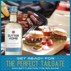 The perfect #tailgate includes good friends, good food, and good wine. Don't forget our mini-bottles when stocking up for your game day events!