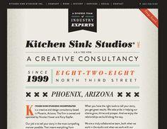 Kitchen Sink Studios #website #webdesign #typography