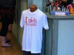 A unique find - I Bike Holland t-shirt in Holland, MI. Great mom & pop shopping destination.