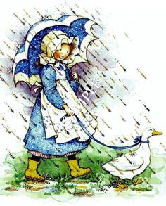 Rain/walking duck