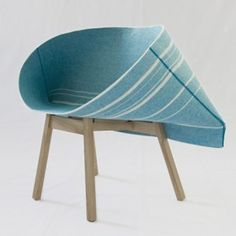 the seat of this chair by London design duo Raw Edges for Italian brand Moroso is made from a single loop of material.