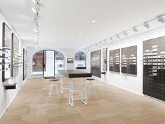 High-quality designer glasses from 175 CHF. ▶ Visit us. Optician, Minimalist Interior, Minimalism, Sunnies, Sunglasses, Chf, Interior Design, Architecture, Modern