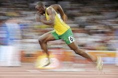 Usain Bolt in motion