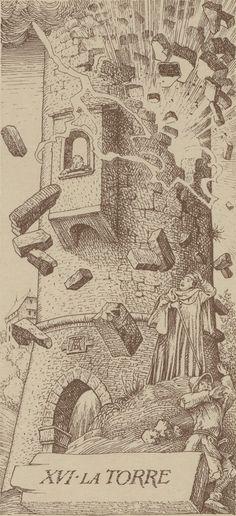 XVI. The Tower: Dürer Tarot #MediumMaria Und wo bist du jetzt? Irgendwie so tot und ausgelaufen?