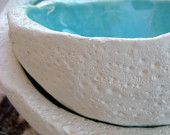 Ceramic turquoise bowl - set of two
