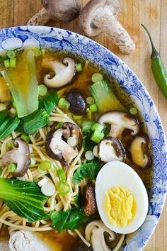 Miso Ramen with Shitake and Chicken - An amazing protein-packed 30-minute meal that also happens to be low calorie, low fat, and utterly delicious. | The View from Great Island