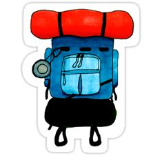 Backpacking stickers featuring millions of original designs created by independent artists. Decorate your laptops, water bottles, notebooks and windows. White or transparent. 4 sizes available. Homemade Stickers, How To Make Stickers, Brand Stickers, Laptop Stickers, Travel Sticker, Overlays, Outdoor Stickers, Box Patterns, Camping Gifts