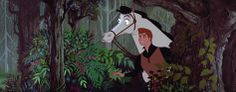"""Prince Phillip: [Hearing Aurora's singing] You hear that, Samson? Beautiful. [Samson snorts] What is it? Come on, let's find out. [Samson refuses] Aw, come on. For an extra bucket of oats? And a few… carrots? [Samson nods yes] Hup, boy! [They ride through the forest; Samson jumps over a river but Phillip falls off and into the water] Whoa! [Samson goes back for him and Phillip splashes water on his face] No carrots."""" –Sleeping Beauty (1959)"""