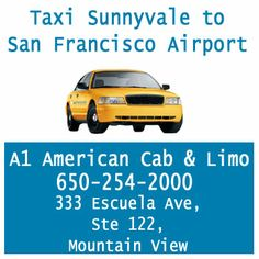 Cheap Taxi & Limo Service from Sunnyvale to San Francisco Airport. Avail the benefit of discount service.
