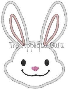 Easter Bunny Boy Applique Machine Embroidery by TheAppliqueGuru, $3.99
