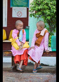 Young nuns . Yangon, Myanmar